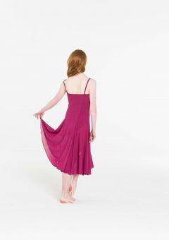 Elemental lyrical dress burgundy