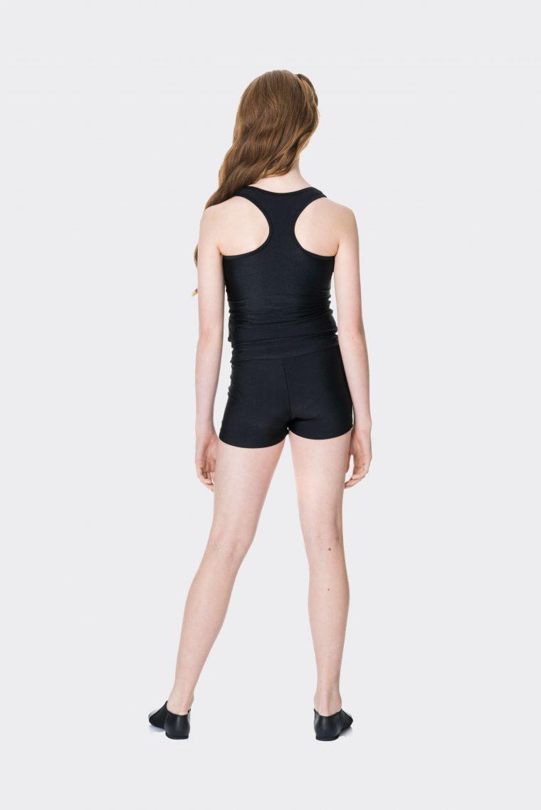 t-back singlet top black