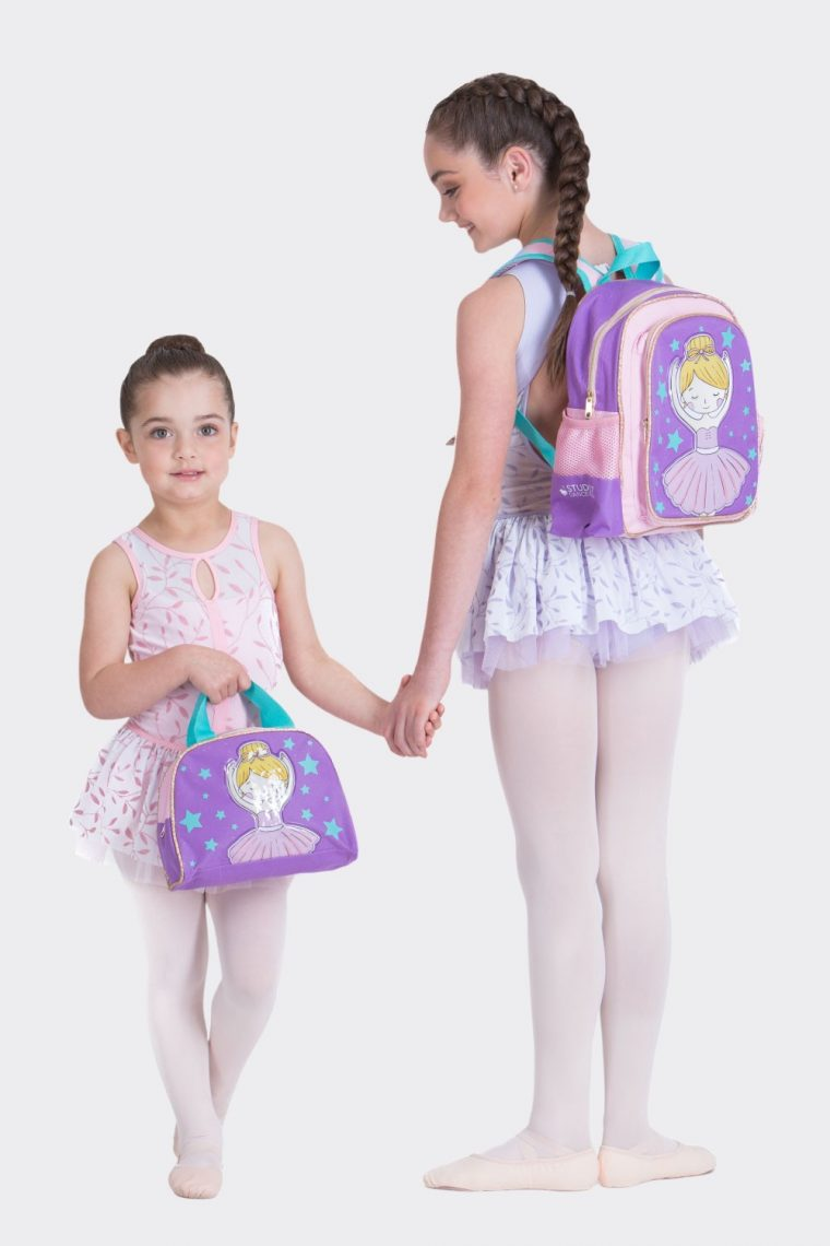 ballerina star backpack and carry bag