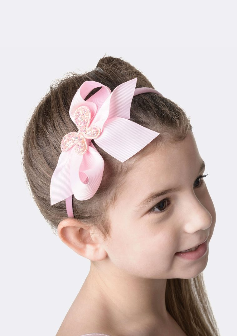 big bow headband pink