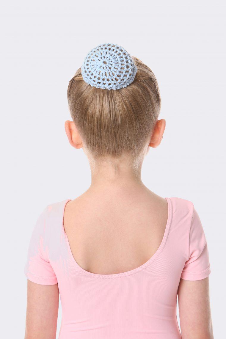 crochet bun net pale blue