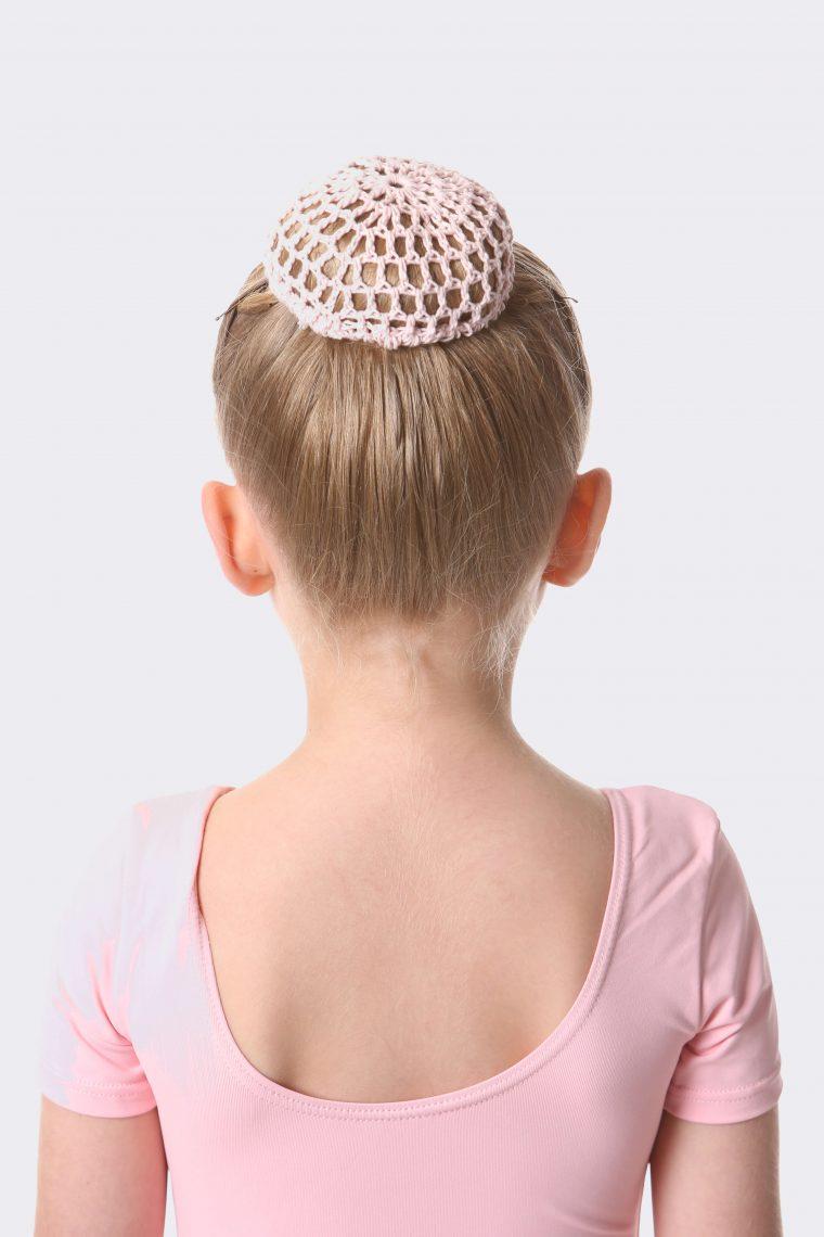 crochet bun net pale pink