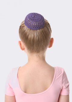 crochet bun net dark purple