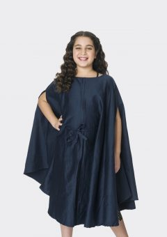 danzcape navy turquoise embroidered