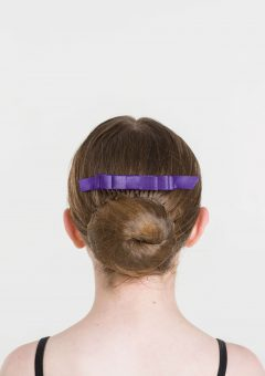 satin hair bow dark purple