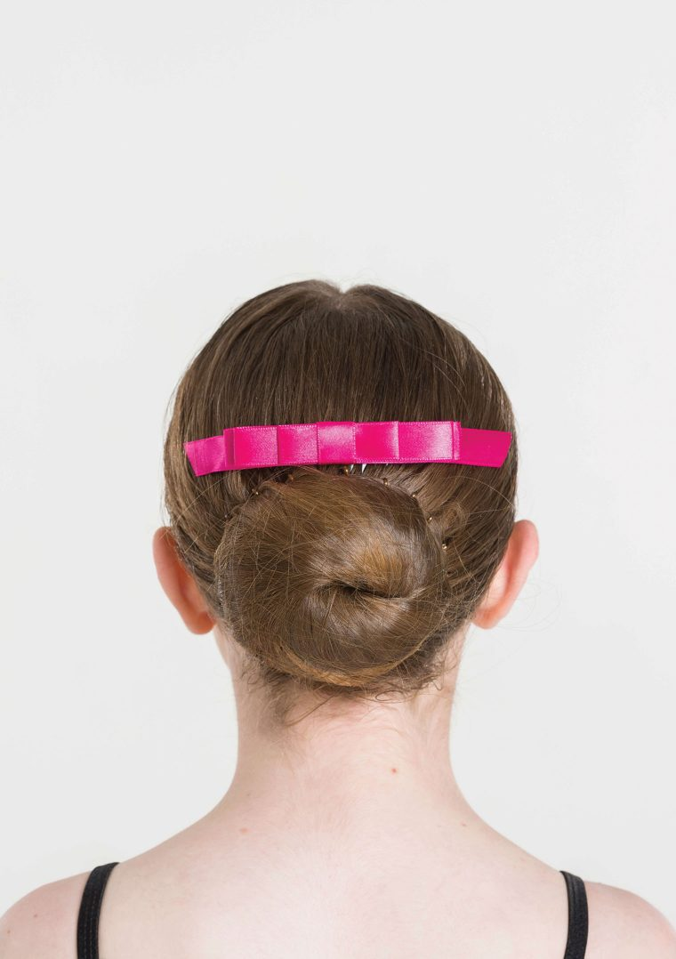 satin hair bow mulberry