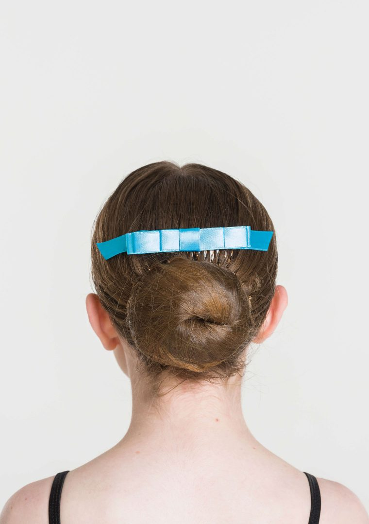 satin hair bow turquoise