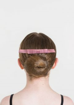 satin hair bow dusty pink