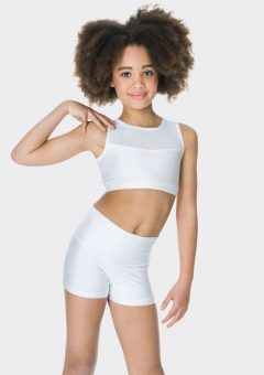 mesh crop top white