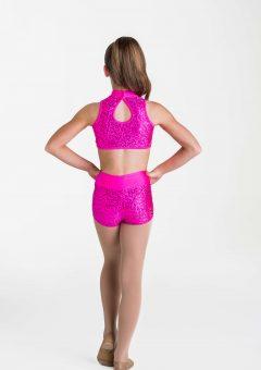 cabaret crop top hot pink