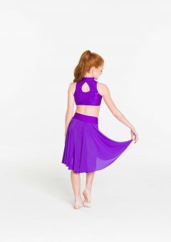 cabaret crop top purple