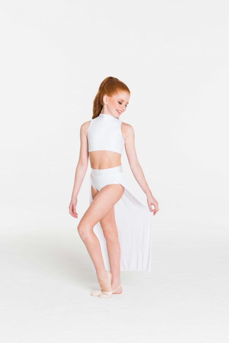 cabaret crop top white