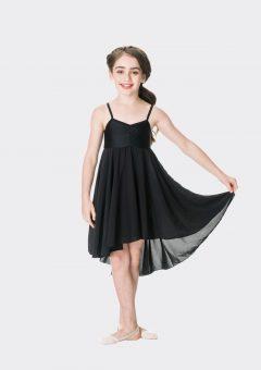 Princess chiffon dress Black