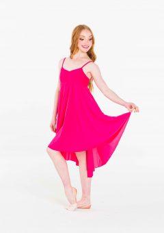 princess chiffon dress fucshia