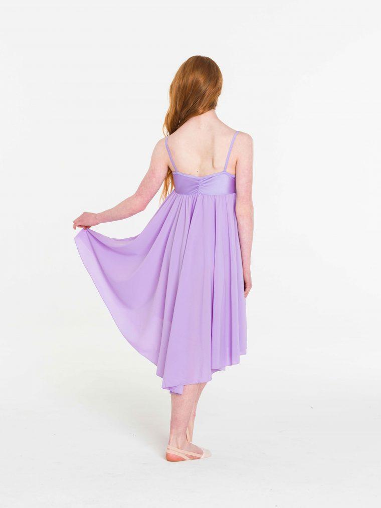 princess chiffon dress lilac