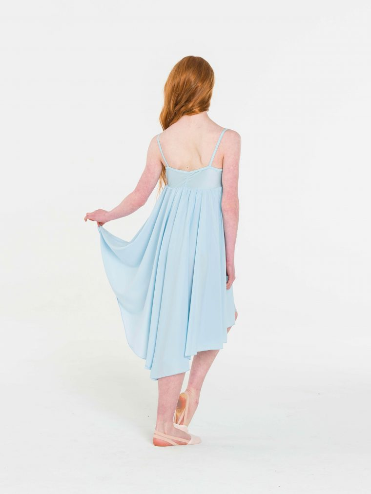 princess chiffon dress pale blue