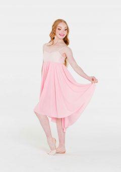 princess chiffon dress pale pink