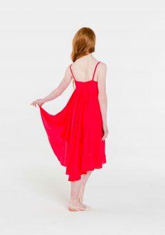 princess chiffon dress red