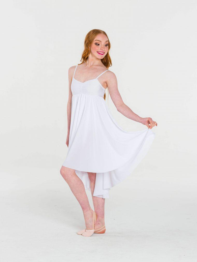 princess chiffon dress white
