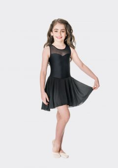Mesh lyrical dress Black