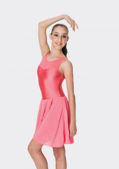 Mesh lyrical dress Coral