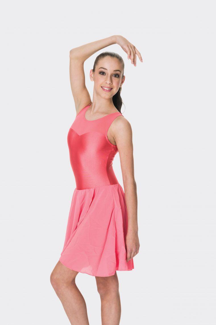 Mesh lyrical dress Coral