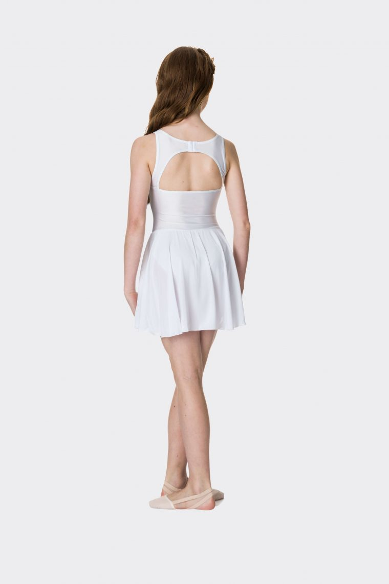 Mesh lyrical dress White