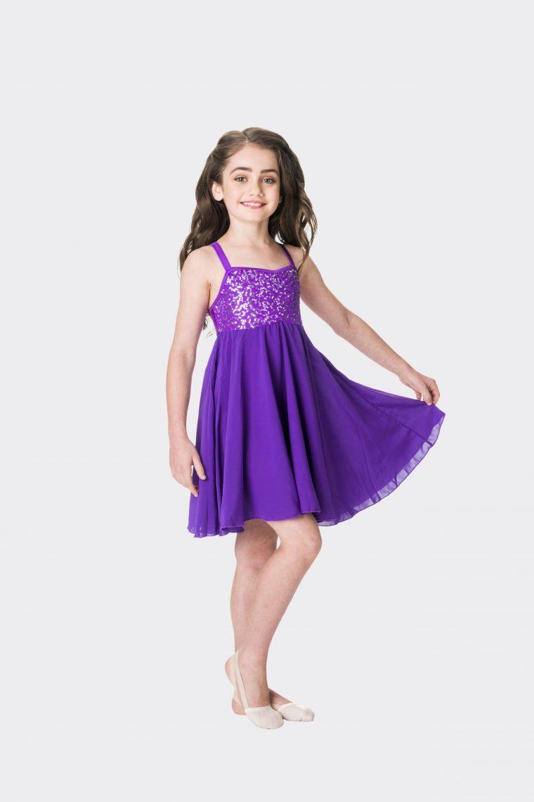 Sequin lyrical dress Purple
