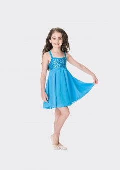 Sequin lyrical dress Turquoise