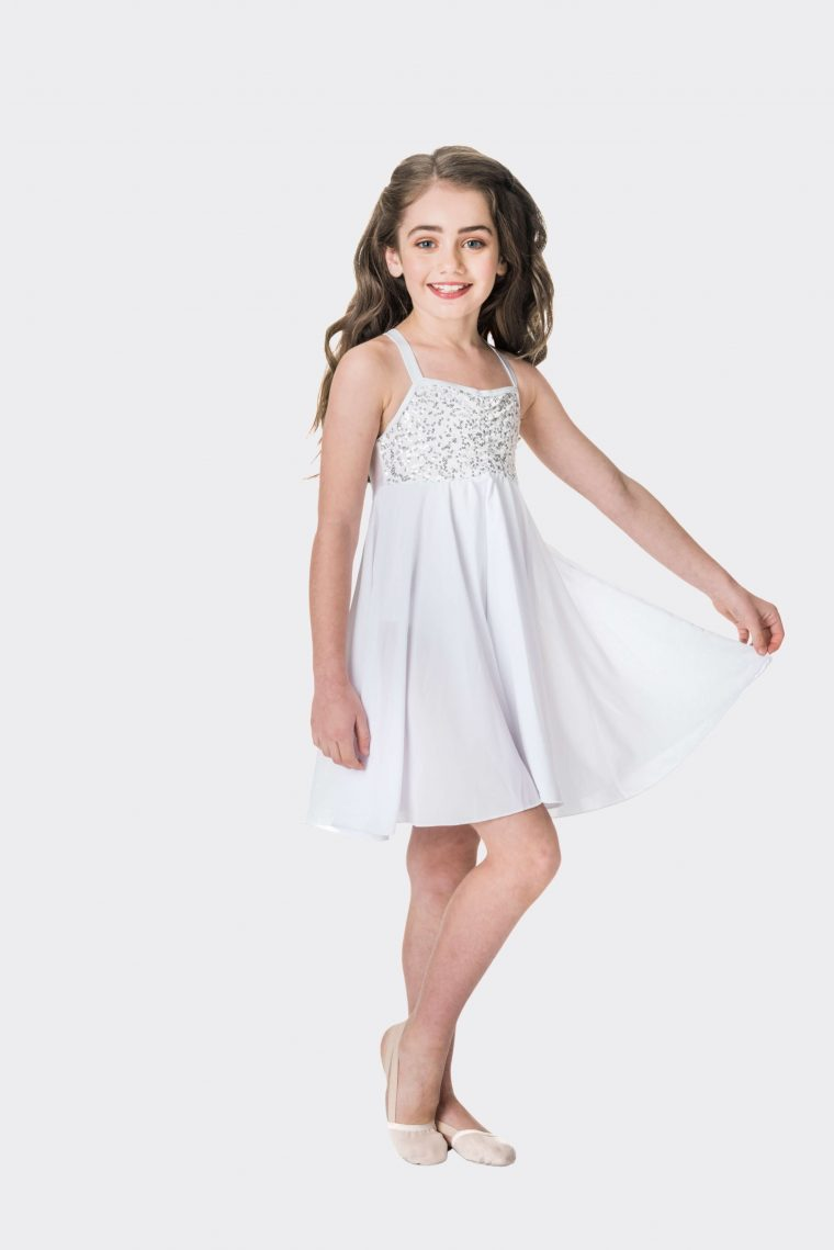 Sequin lyrical dress White