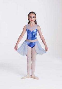 Mermaid dreams lyrical dress royal blue