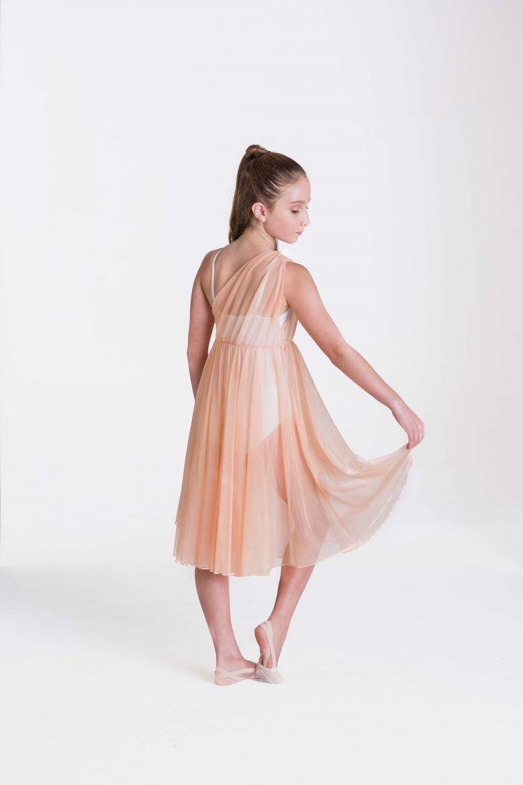 Grecian lyrical dress apricot