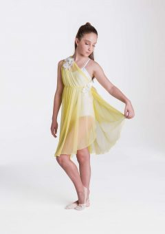 Grecian lyrical dress lemon