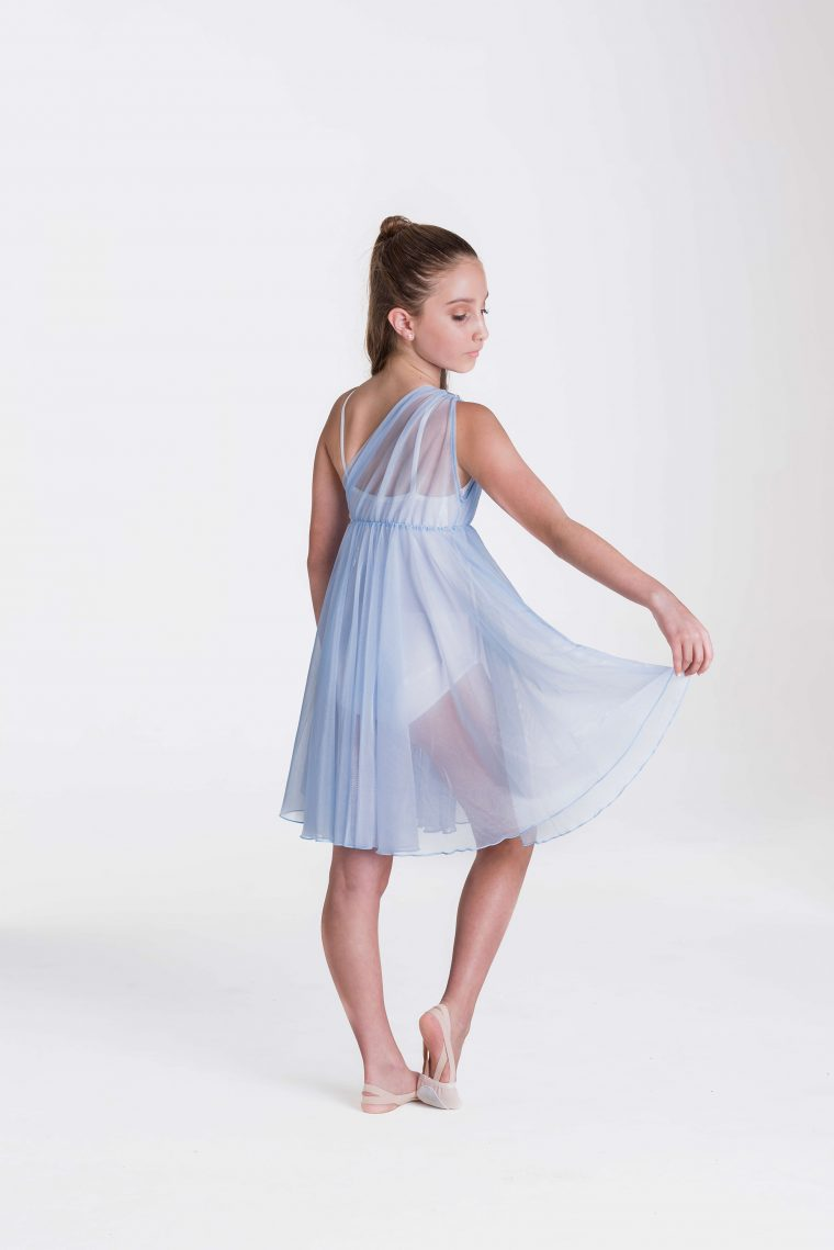 Grecian lyrical dress pale blue