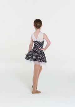 polka dot dress black