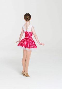 polka dot princess dress red