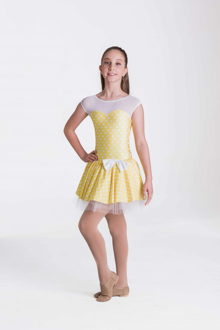 polka dot princess dress yello
