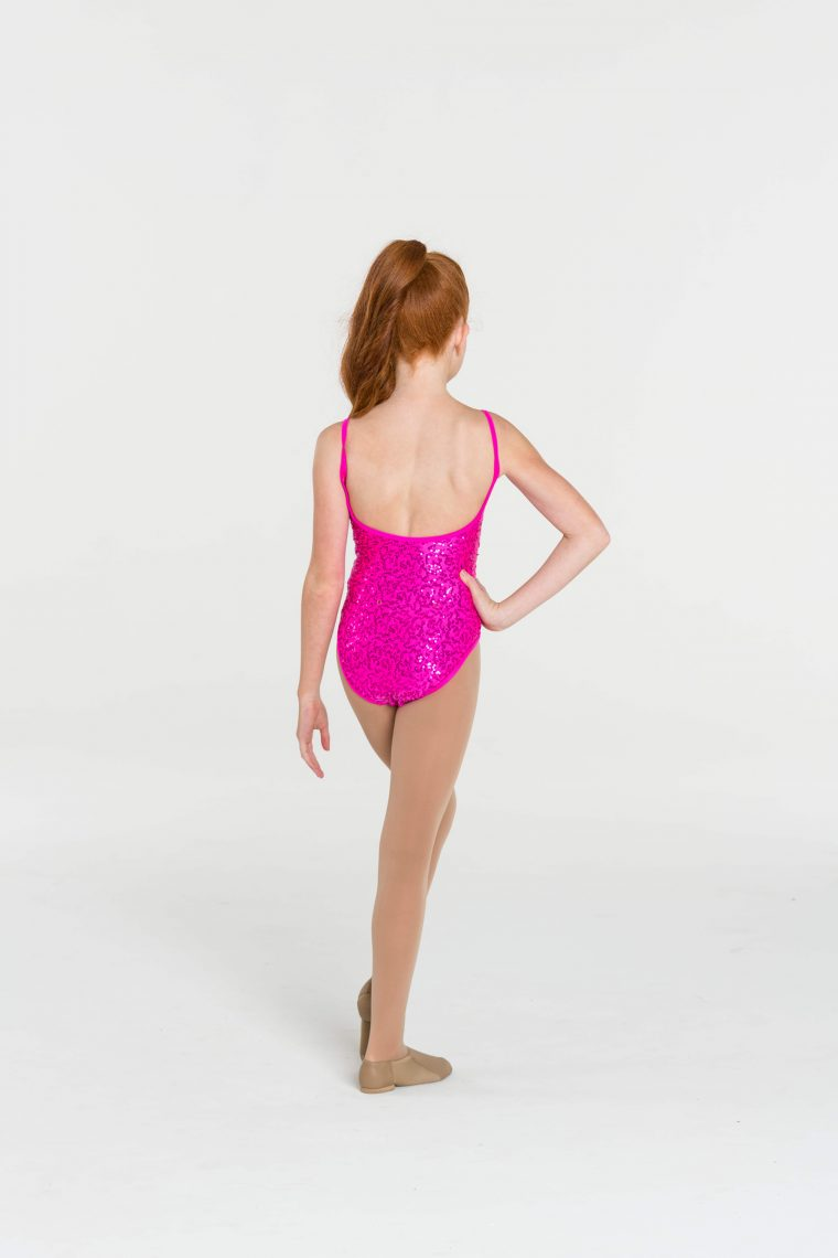 sequin leotard hot pink