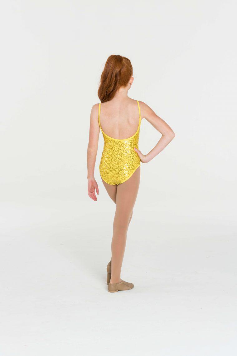 sequin leotard yellow