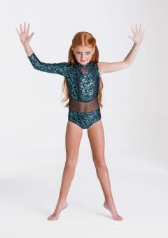 wild things leotard emerald