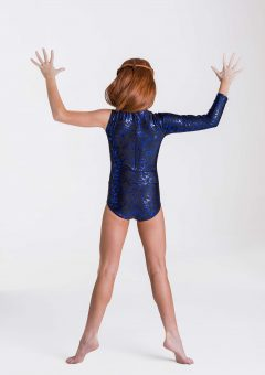 wild things leotard royal blue