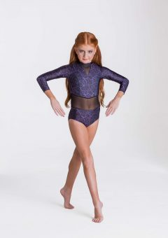 storm leotard purple