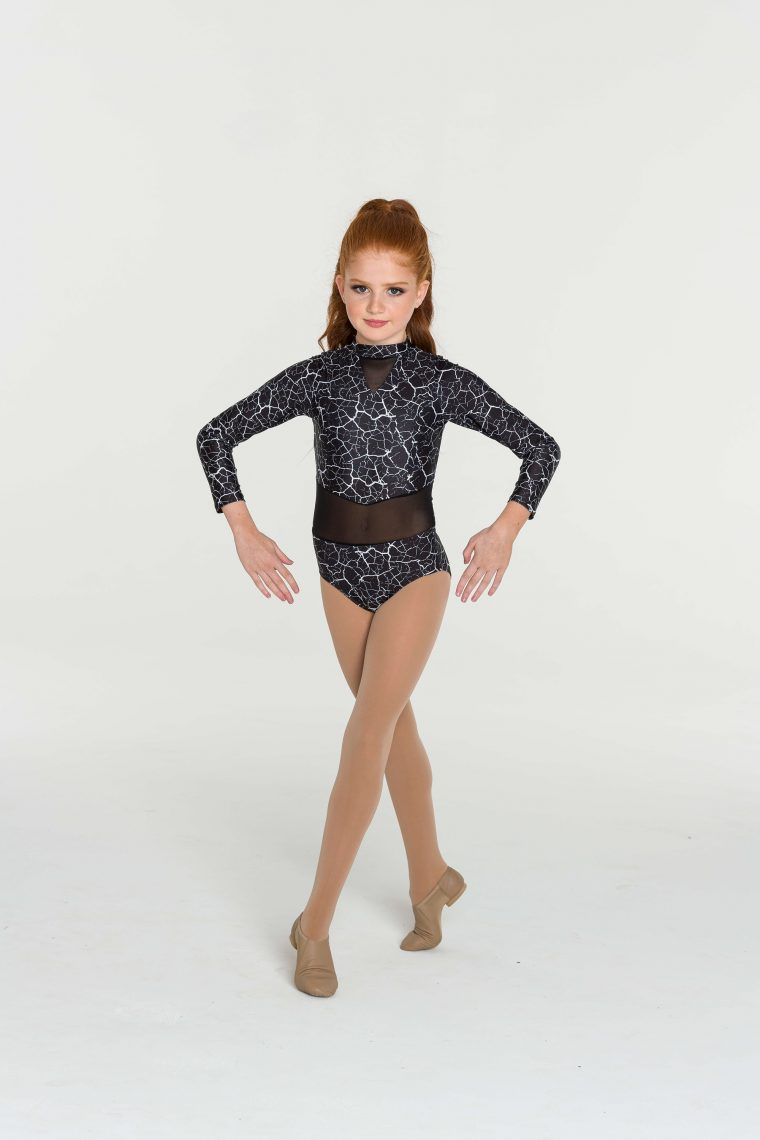 storm leotard black white