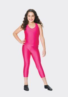Fuchsia 3/4 nylon leggings