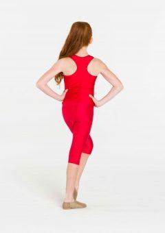 red 3/4 nylon leggings