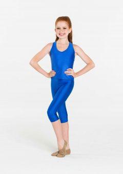 royal blue 3/4 nylon leggings