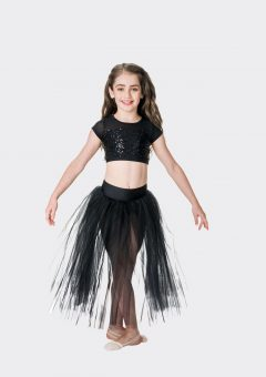 dream romantic tutu skirt black