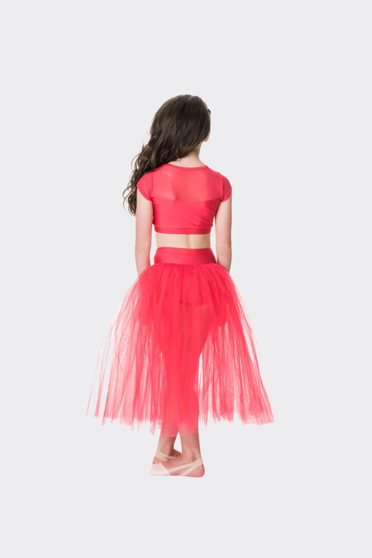 dream romantic tutu skirt red