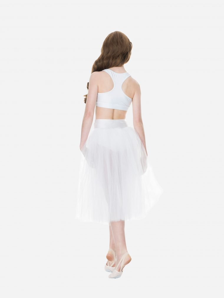 dream romantic tutu skirt white