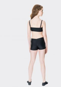 Nylon hot shorts Black